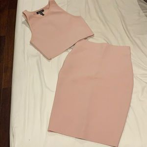 Pencil skirt with crop top